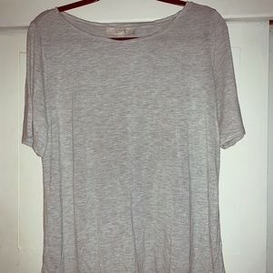 LOFT Basic Gray T-Shirt Woman's Size Large